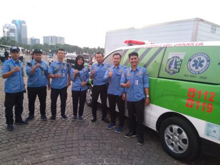 Four Ambulances Ready to Serve Jakarta Bersorak Concert Visitors