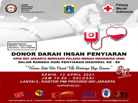 KPID DKI Jakarta Gelar Donor Darah