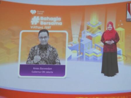 Gubernur Anies Raih Happines Award dan Tokoh Pemberdayaan Rumah Zakat 2020