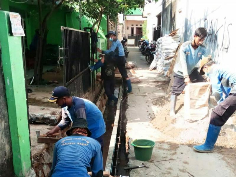 Perbaikan Saluran Jl.Pakis Kel. Sukabumi Utara Kebon Jeruk, Jakarta Bara