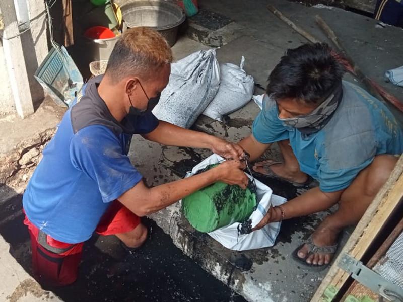 Pengurasan Saluran Jl.Sukarela Penjaringan, Jakarta Utara