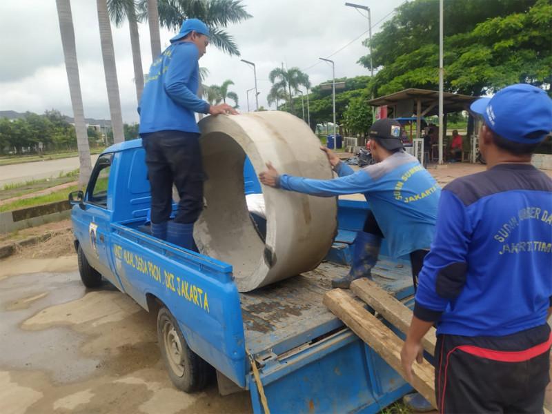 Penurunan beton yang akan digunakan untuk sumur resapan