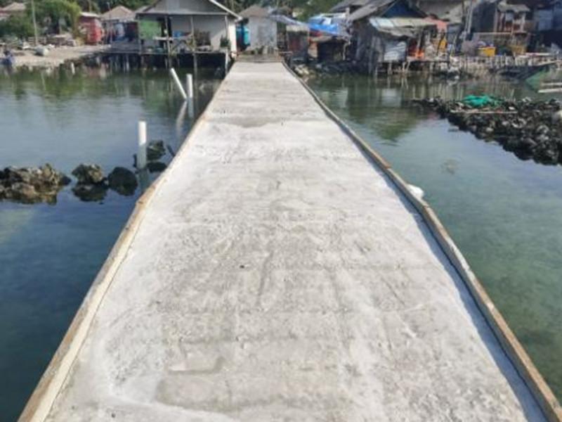 Pengecoran Jembatan di Pulau Kelapa Dua Kepulauan Seribu utara Kabupaten Adm. Kep. Seribu
