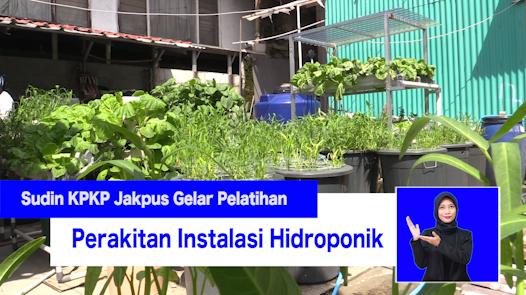 Sudin KPKP Jakpus Gelar Pelatihan Perakitan Instalasi Hidroponik