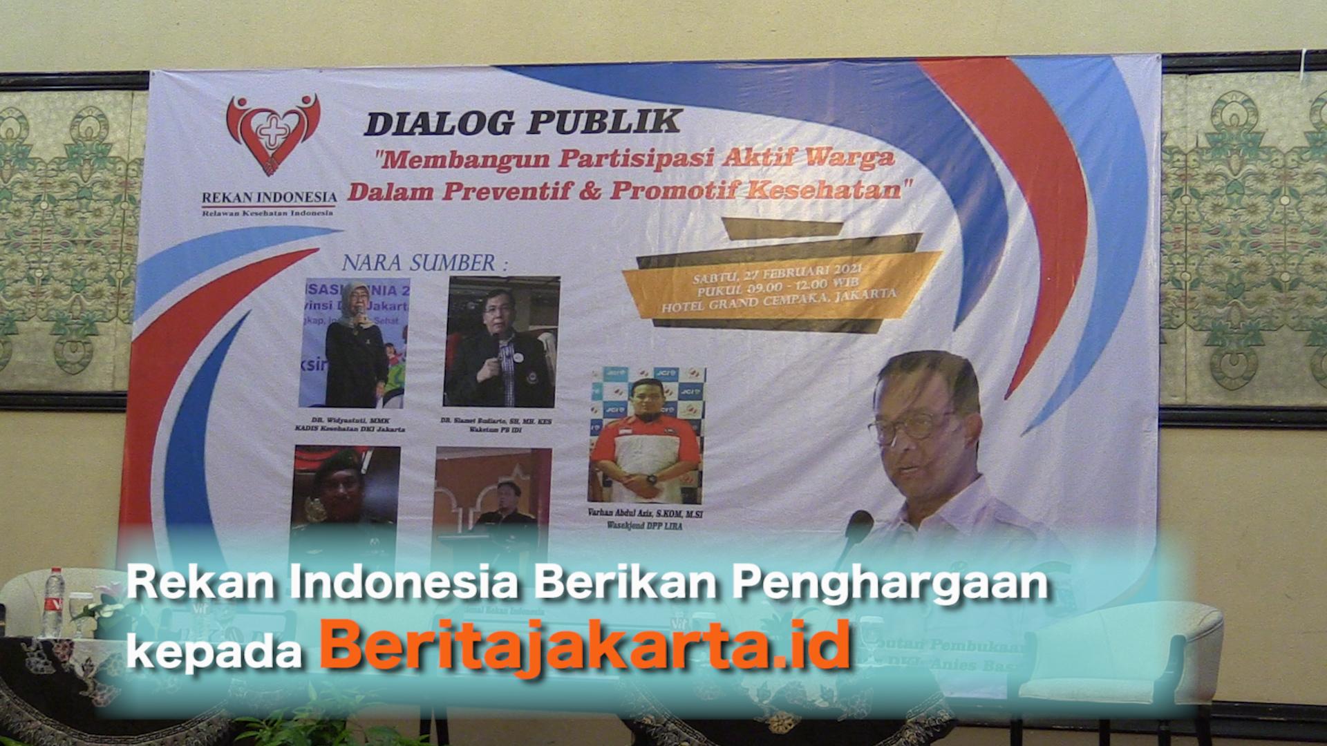 Rekan Indonesia Berikan Penghargaan kepada Beritajakarta.id