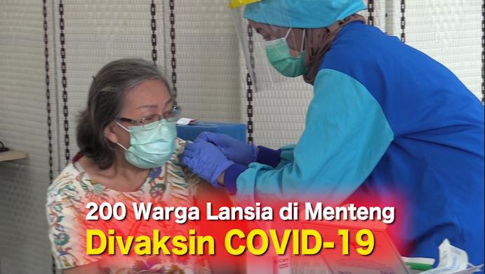 200 Warga Lansia di Menteng Divaksin COVID-19