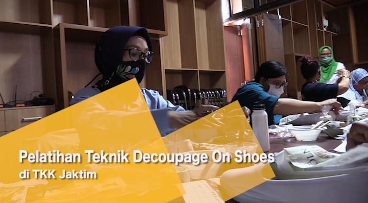 Pelatihan Teknik Decoupage On Shoes di TKK Jaktim