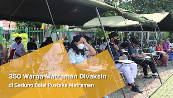 350 Warga Matraman Divaksin di Gedung Balai Pustaka Matraman