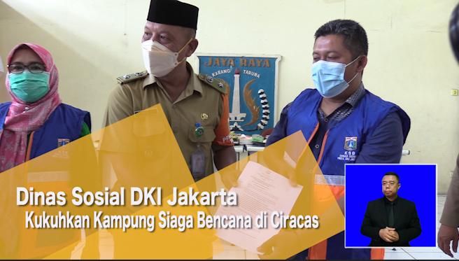 Dinas Sosial DKI Jakarta Kukuhkan Kampung Siaga Bencana di Ciracas