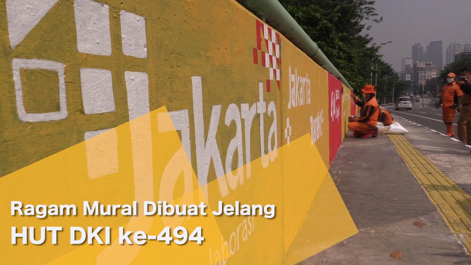 Ragam Mural Dibuat Jelang HUT DKI ke-494