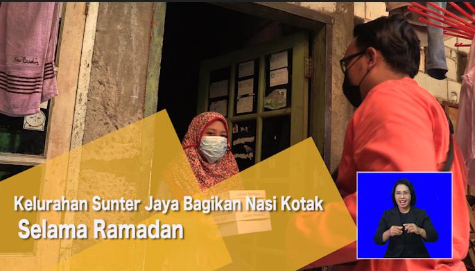 Kelurahan Sunter Jaya Bagikan Nasi Kotak Selama Ramadan