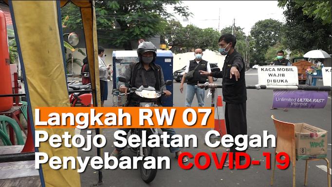 Langkah RW 07 Petojo Selatan Cegah Penyebaran COVID-19