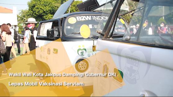 Wakil Wali Kota Jakpus Dampingi Gubernur DKI Lepas Mobil Vaksinasi Serviam