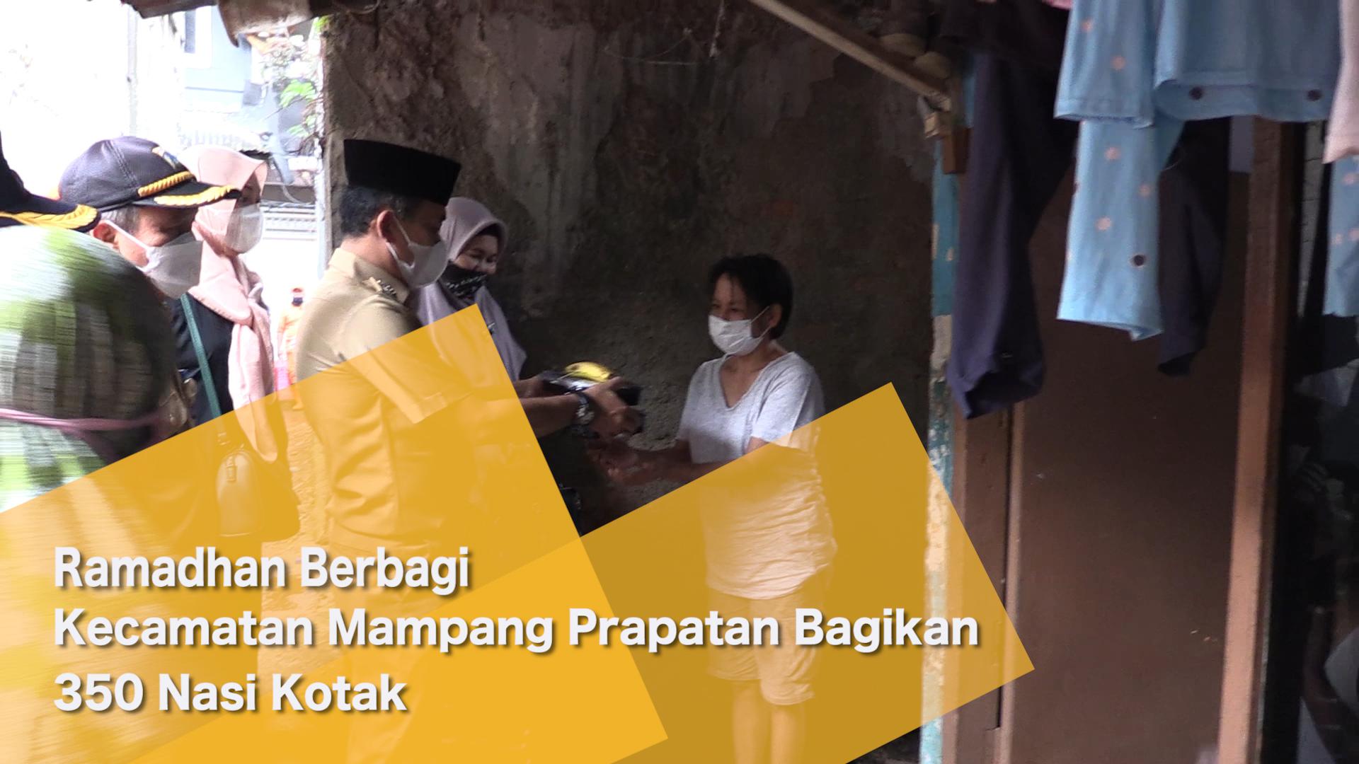 Ramadhan Berbagi, Kecamatan Mampang Prapatan Bagikan 350 Nasi Kotak