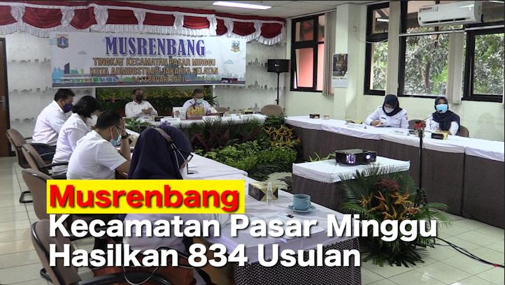 Musrenbang Kecamatan Pasar Minggu Hasilkan 834 Usulan