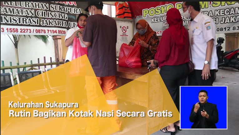 Kelurahan Sukapura Rutin Bagikan Kotak Nasi Secara Gratis