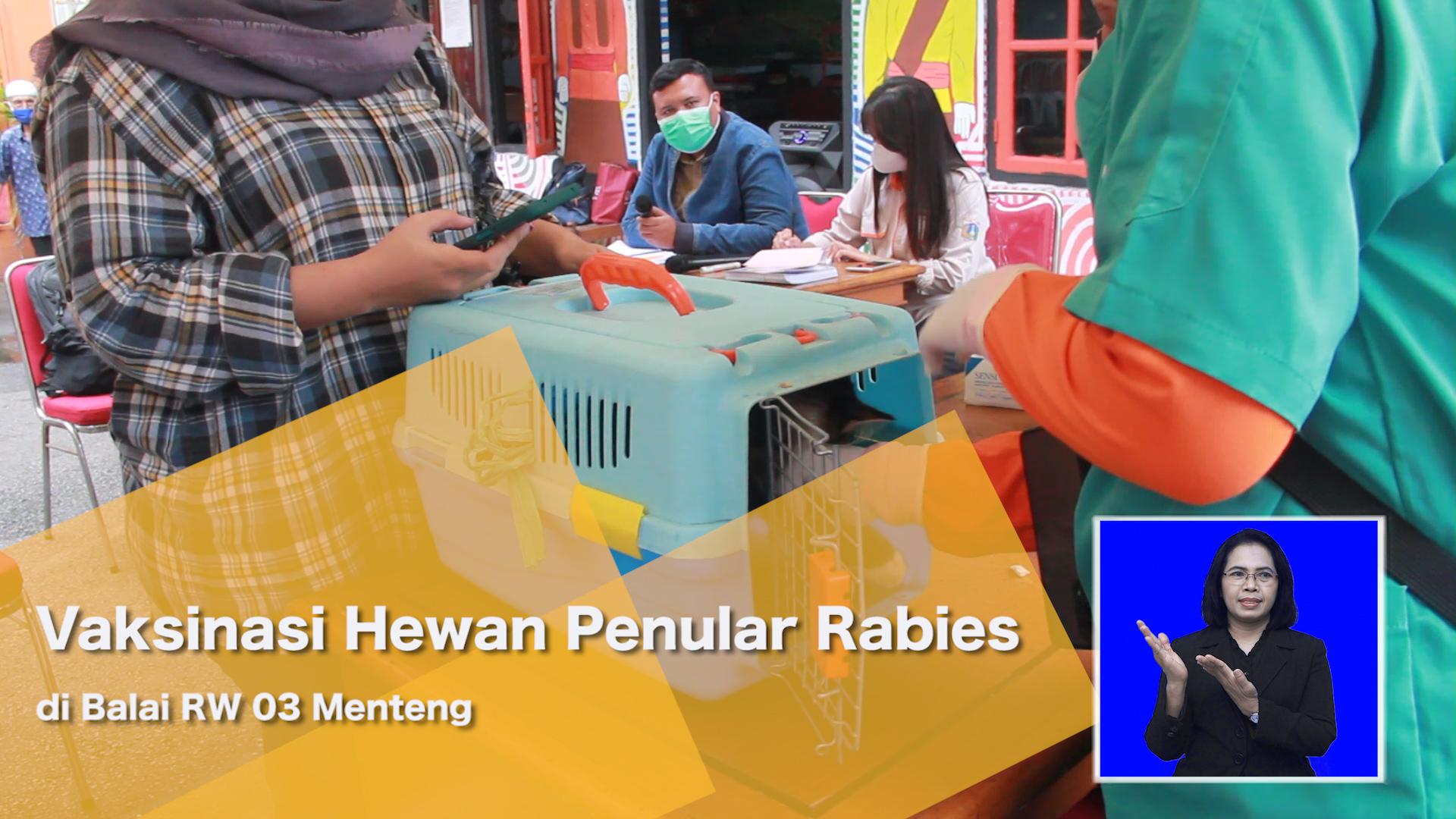 Vaksinasi Hewan Penular Rabies di Balai RW 03 Menteng